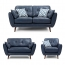 Zinc Four Seater Leather Sofa Image 2