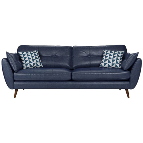 Zinc Four Seater Leather Sofa Image 3