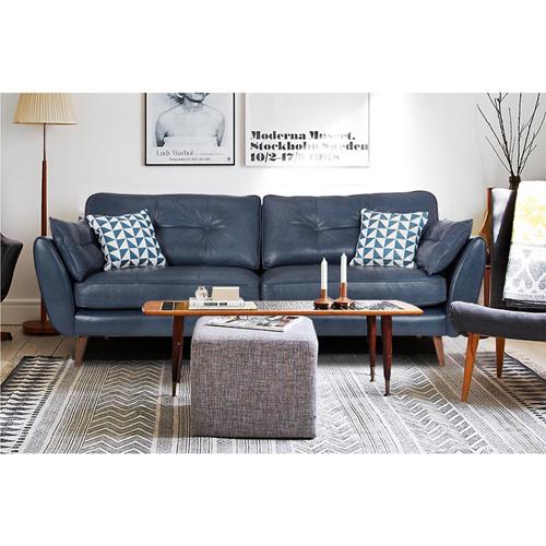 Zinc Four Seater Leather Sofa Image 5