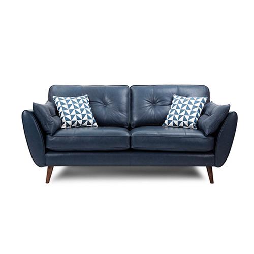 Zinc Four Seater Leather Sofa Image 7