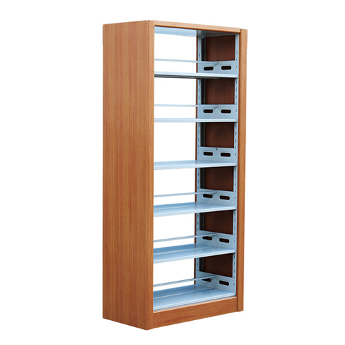 Double Sided Steel-Wood Bookshelf