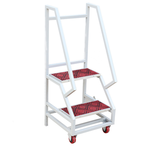 Two-Step Metal Rolling Ladder