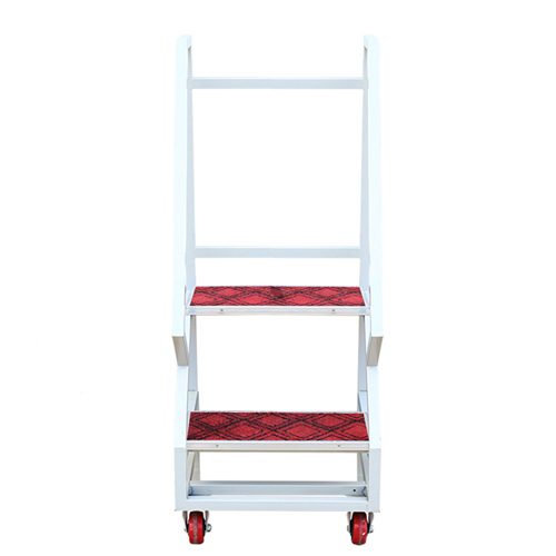 Two-Step Metal Rolling Ladder Image 1
