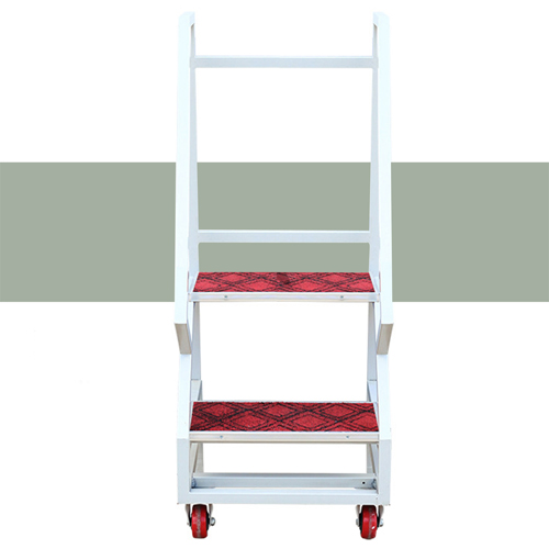 Two-Step Metal Rolling Ladder Image 4