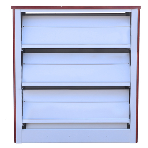 Spray Double-Sided 3-Level Bookshelf Image 1