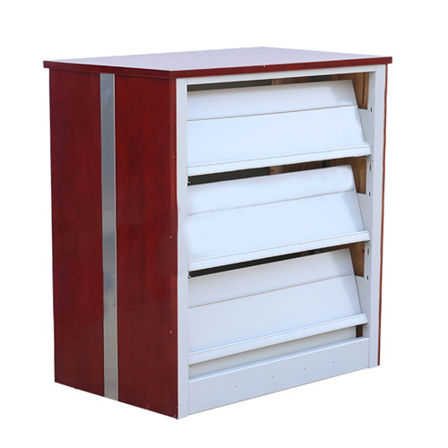 Spray Double-Sided 3-Level Bookshelf