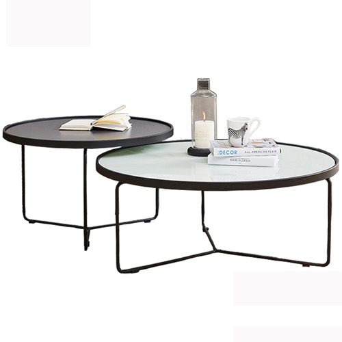 Austex Round Tempered Glass Table