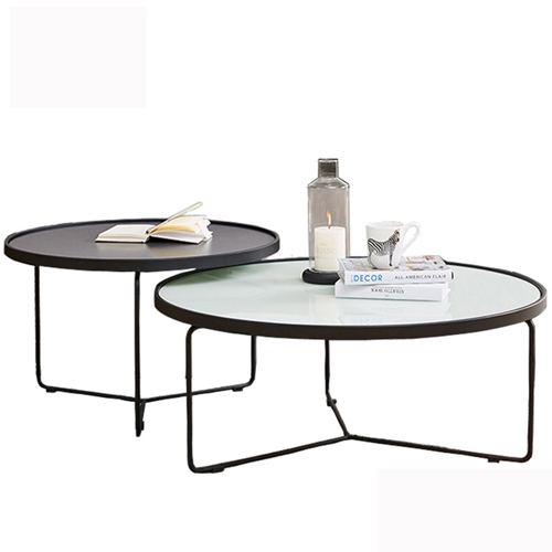 Austex Round Tempered Glass Table Image 5