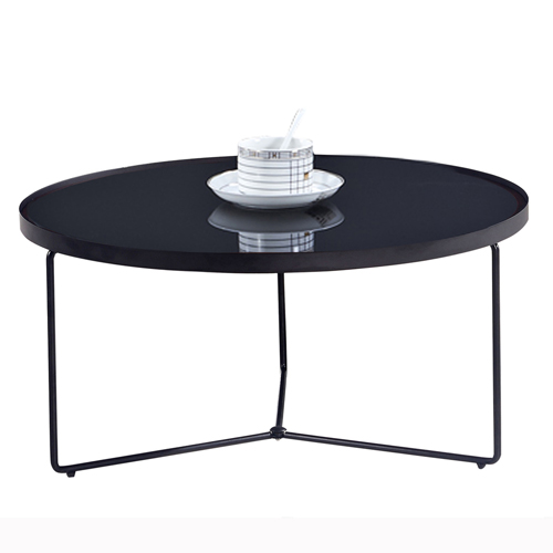 Austex Round Tempered Glass Table Image 6