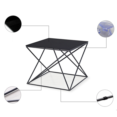 Unique Design Geometric Glass Table Image 10