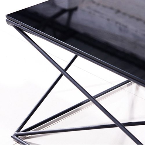 Unique Design Geometric Glass Table Image 12