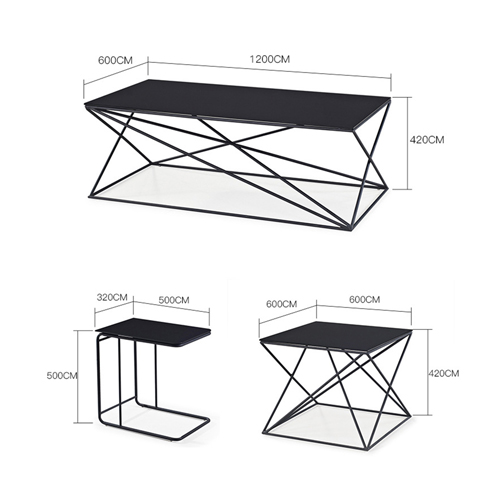 Unique Design Geometric Glass Table Image 13