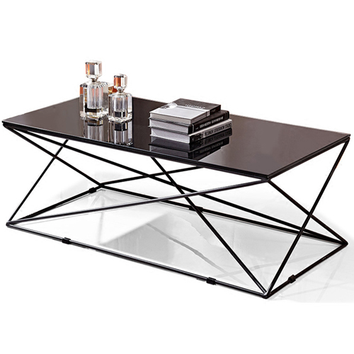 Unique Design Geometric Glass Table