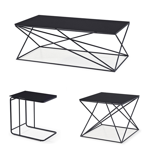 Unique Design Geometric Glass Table Image 1