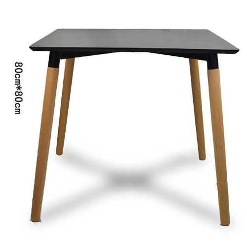 Helixer Square Table With Wood Legs Image 1