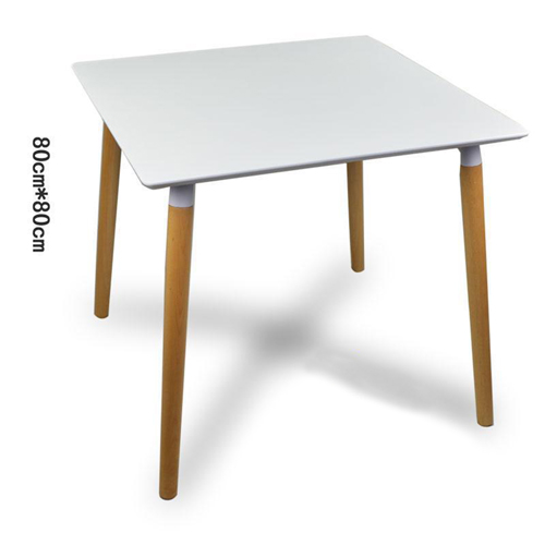 Helixer Square Table With Wood Legs Image 2