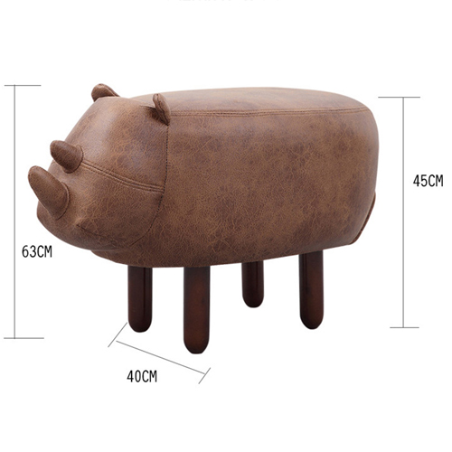 Creative Rhino Shaped Children Stool Image 9