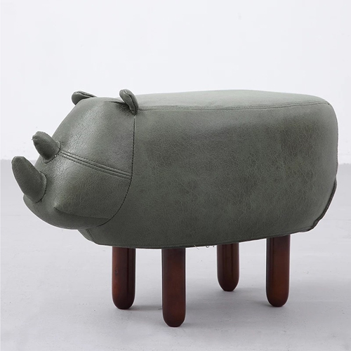 Creative Rhino Shaped Children Stool Image 3