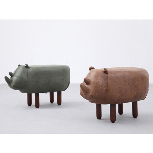 Creative Rhino Shaped Children Stool Image 4