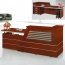 Cozy Wooden Reception Counter Table