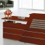 Cozy Wooden Reception Counter Table Image 5