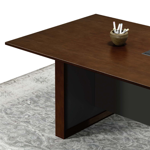 Wooden Conference Table with Long Lining Image 9