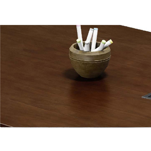 Wooden Conference Table with Long Lining Image 10