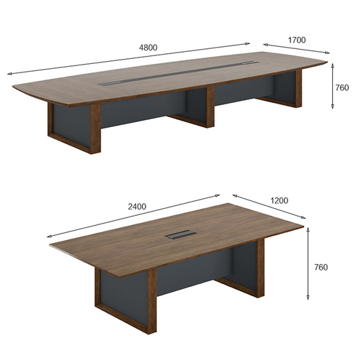 Wooden Conference Table with Long Lining Image 14