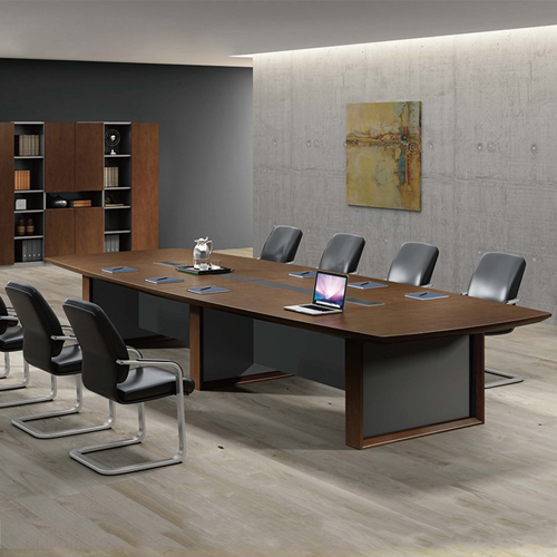 Wooden Conference Table with Long Lining