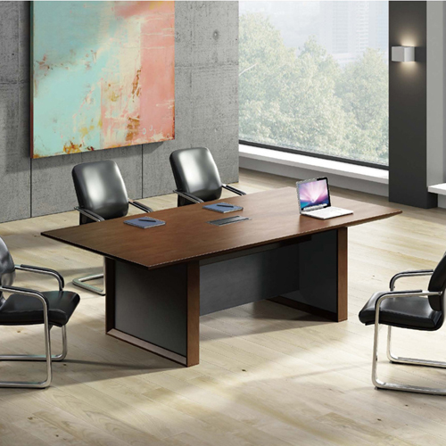 Wooden Conference Table with Long Lining Image 1