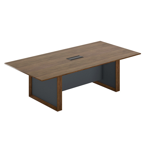 Wooden Conference Table with Long Lining Image 3