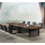Wooden Conference Table with Long Lining Image 4