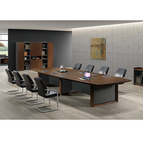 Wooden Conference Table with Long Lining Image 5