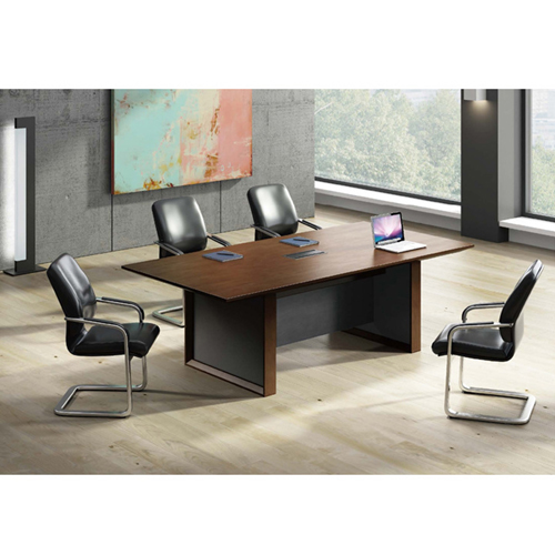 Wooden Conference Table with Long Lining Image 6