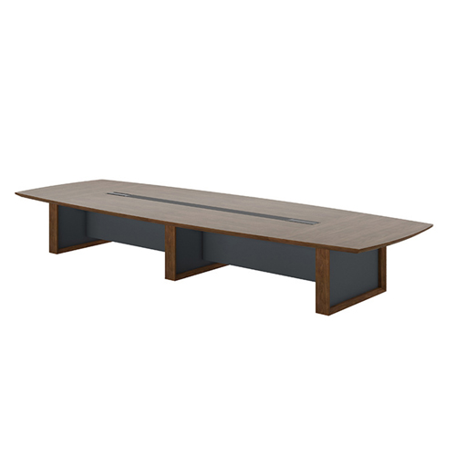 Wooden Conference Table with Long Lining Image 7