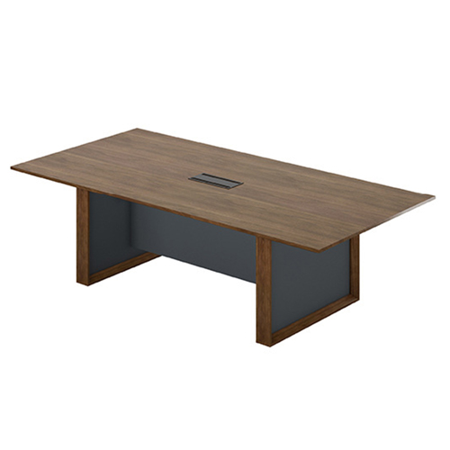 Wooden Conference Table with Long Lining Image 8