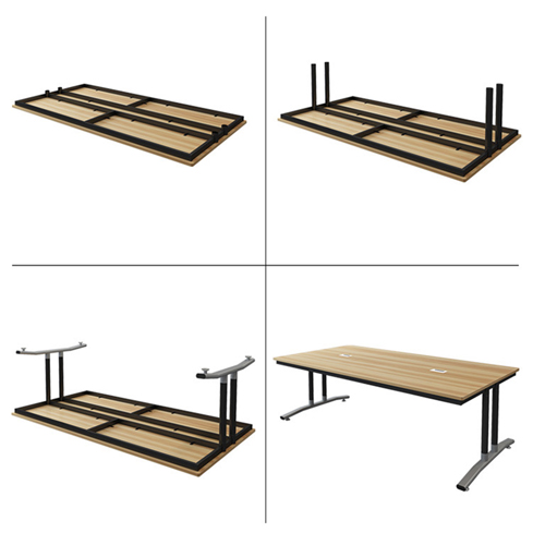 Modular Wooden Surface Conference Table Image 21