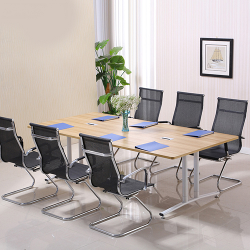 Modular Wooden Surface Conference Table Image 4