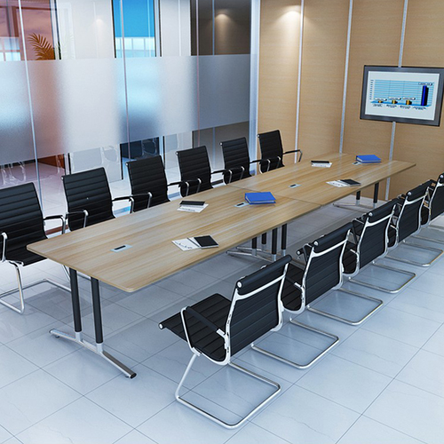 Modular Wooden Surface Conference Table Image 5