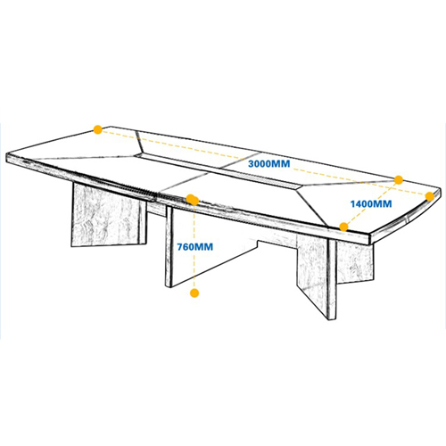 Wooden Rectangle Conference Table Image 9