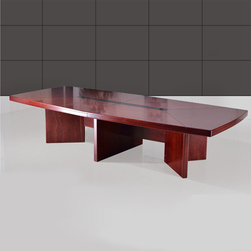 Wooden Rectangle Conference Table Image 1
