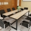 Standard Leather Lining Conference Table Image 1