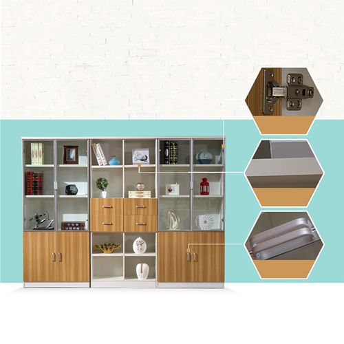 Wooden Three Piece Office Filing Cabinet Image 9