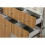 Wooden Three Piece Office Filing Cabinet Image 10