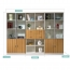 Wooden Three Piece Office Filing Cabinet Image 17