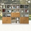 Wooden Three Piece Office Filing Cabinet Image 1