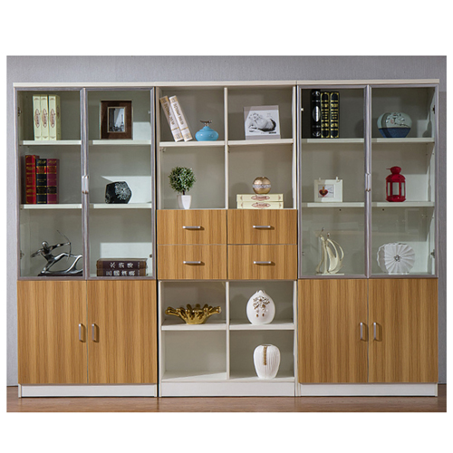 Wooden Three Piece Office Filing Cabinet Image 2