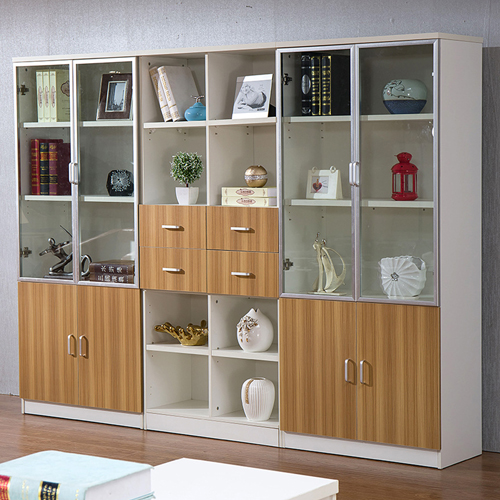Wooden Three Piece Office Filing Cabinet Image 4