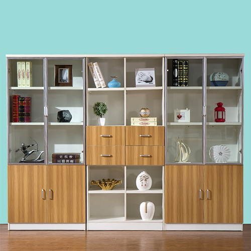 Wooden Three Piece Office Filing Cabinet