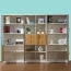 Wooden Three Piece Office Filing Cabinet Image 7